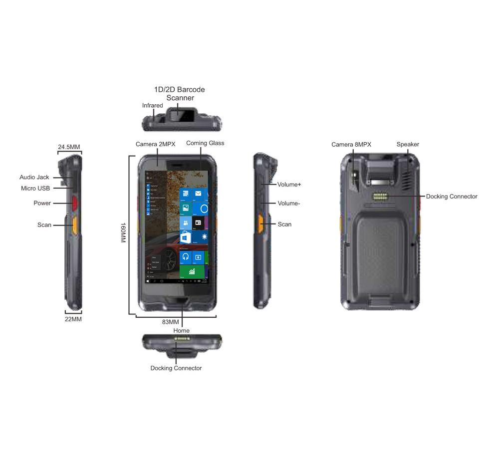 "6"" Mобилен Windows таблет индустриален"