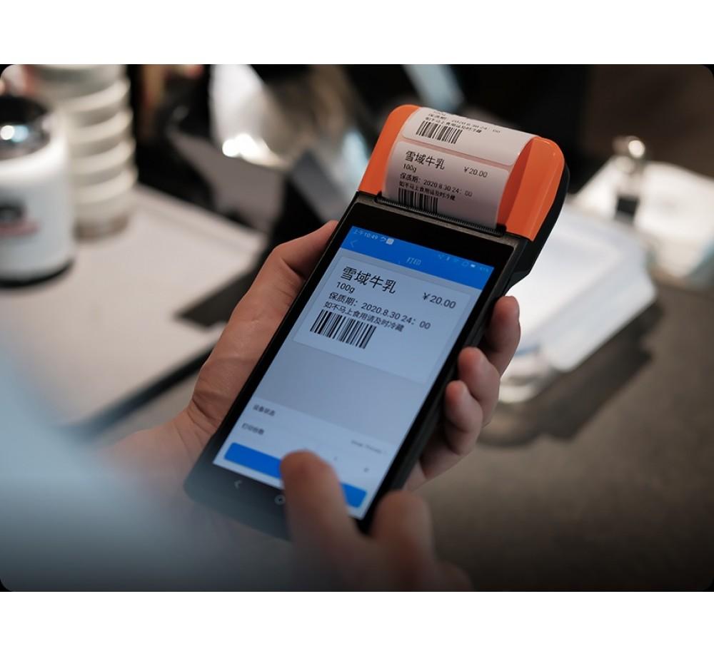 V2 pro Мобилен терминал с принтер (етикети)